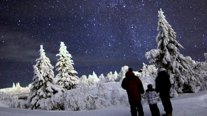 Stargazing in winter